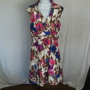 Jessica Howard Gorgeous Sleeveless Floral Dress 10